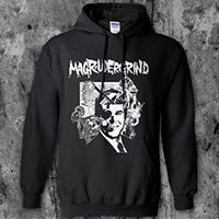 Magrudergrind- Asia Grinder on a black hooded sweatshirt