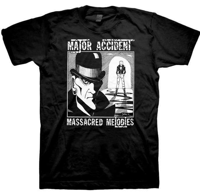 Major Accident- Massacred Melodies on a black shirt