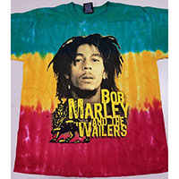 Bob Marley- Picture on a tie dye YOUTH sized shirt (Sale price!)