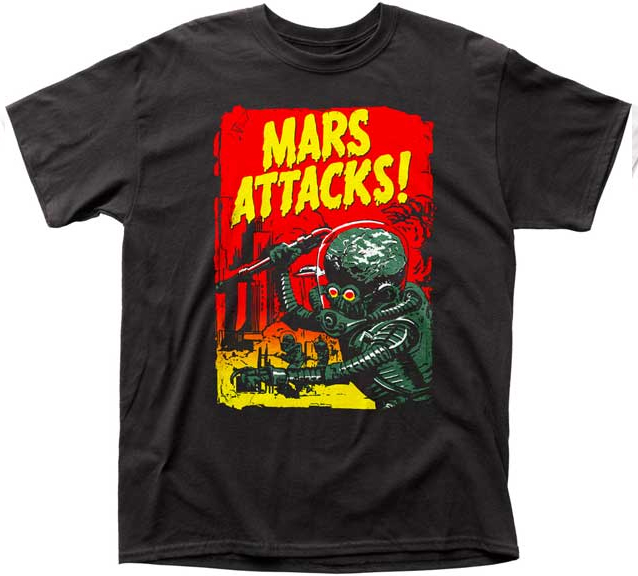 Mars Attacks- Gradient Poster on a black shirt