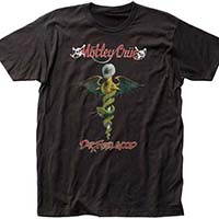 Motley Crue- Dr. Feelgood (Full Color Print) on a black ringspun cotton shirt