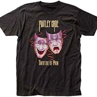Motley Crue- Theatre Of Pain on a black ringspun cotton shirt