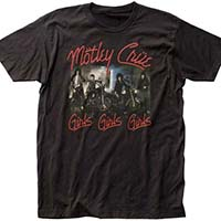 Motley Crue- Girls Girls Girls (Band On Motorcycles) on a black ringspun cotton shirt