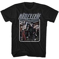Motley Crue- Uncrued Band Pic on a black ringspun cotton shirt