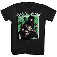 Motley Crue- Dr. Feelgood Band Pic on a black ringspun cotton shirt