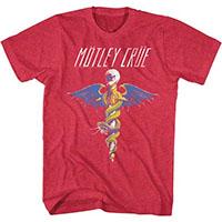 Motley Crue- Dr Feelgood on a cherry heather ringspun cotton shirt