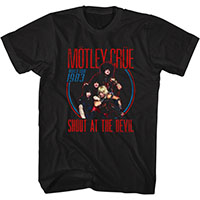 Motley Crue- Shout At The Devil World Tour 1983 on a black ringspun cotton shirt