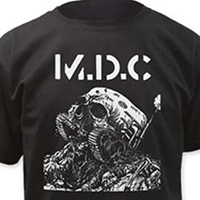 MDC- Skull Tank on a black shirt