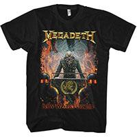 Megadeth- New World Order on a black shirt