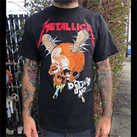 Metallica- Damage Inc on front, Tour on back on a black shirt