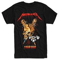 Metallica- Damage Inc Tour 1986 on a black shirt