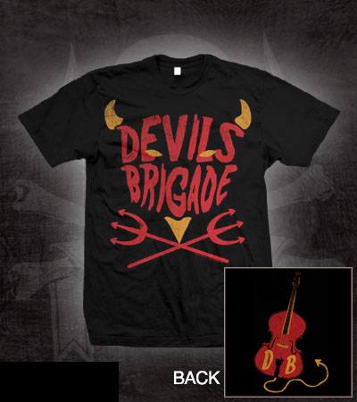 Devils Brigade- Pitchforks on a black shirt (Sale price!)