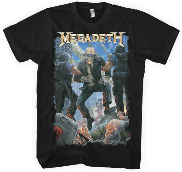 Megadeth- Vic Taken Away on a black shirt