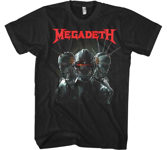 Megadeth- Dystopia on a black shirt