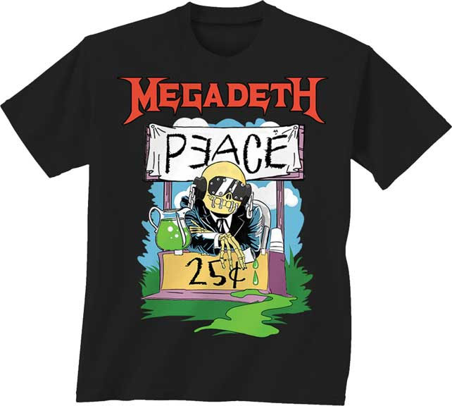 Megadeth- Peace Sells on a black YOUTH SIZED shirt
