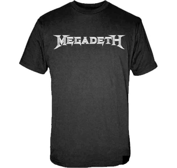 Megadeth- Logo on a black shirt