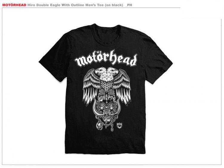 Motorhead- Hiro Double Headed Eagle on a black shirt