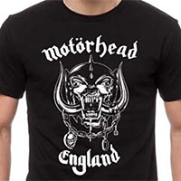 Motorhead- England on front, Everything Louder Than Everything Else on back on a black shirt
