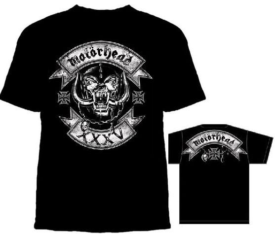 Motorhead- XXXV on a black shirt