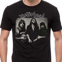 Motorhead- Band Pic on front, Under Cover on back on a black shirt