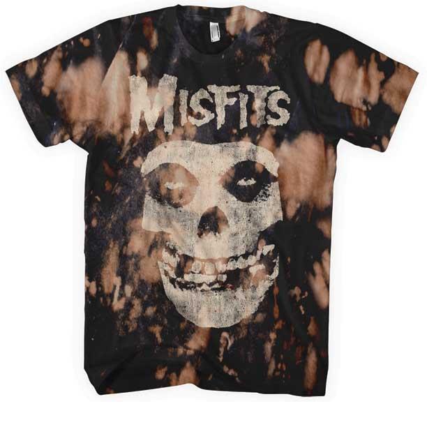 Misfits- Skull on a black bleached shirt