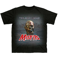 Misfits- Twilight Of The Dead on a black shirt
