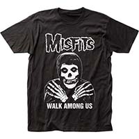 Misfits- Walk Among Us on a black ringspun cotton shirt