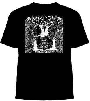 Misery- Children Of War on a black shirt (Sale price!)