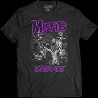 Misfits- Wolfs Blood on a black ringspun cotton shirt