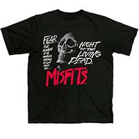 Misfits- Fear on a black shirt