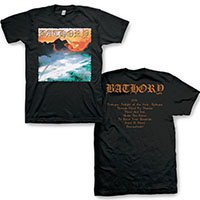 Bathory- Twlight Of The Gods on front & back on a black shirt