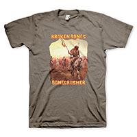 Broken Bones- Bonecrusher on a brown shirt