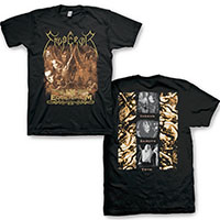 Emperor- Equilibrium on front, Band on back on a black shirt