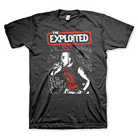 Exploited- Let's Start A War on a black shirt