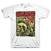 Exploited- Punk's Not Dead on a white shirt