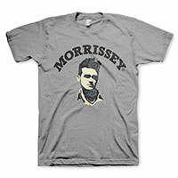 Morrissey- Floral Head on a grey shirt