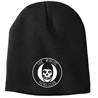 Misfits- Fiend Club embroidered on a black beanie