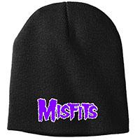 Misfits- Purple Logo embroidered on a black beanie