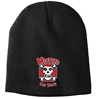 Misfits- New Jersey embroidered on a black beanie