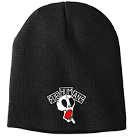 Subhumans- Skull embroidered on a black beanie