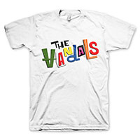 Vandals- Logo on a white shirt