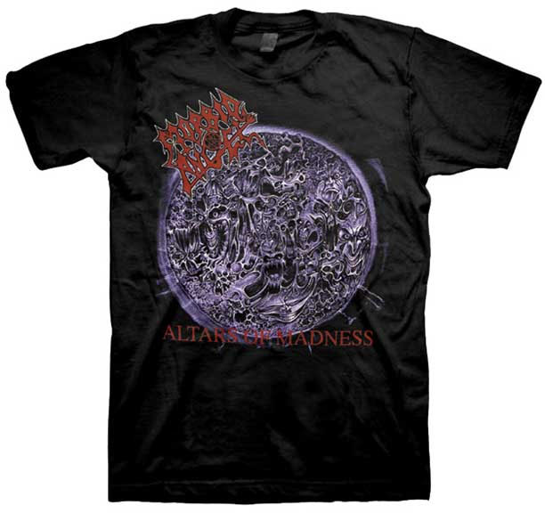 Morbid Angel- Alters Of Madness on a black shirt