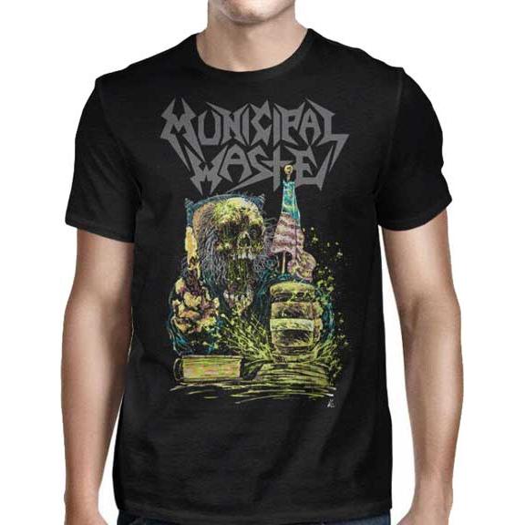 Municipal Waste- Judgement on front, Symbol on back on a black shirt