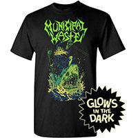 Municipal Waste- Wizard On Shark on a black shirt (Glows In The Dark)