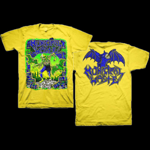 Municipal Waste- Gaither on front, Logo on back on a yellow shirt (Sale price!)
