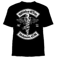 Motley Crue- Dr Feelgood Biker Crest on a black shirt