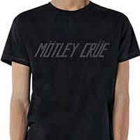 Motley Crue- Distressed Logo on a premium charcoal tri-blend shirt