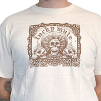 Lucky Mule Brand- Lucky Sombrero on a natural shirt - SALE