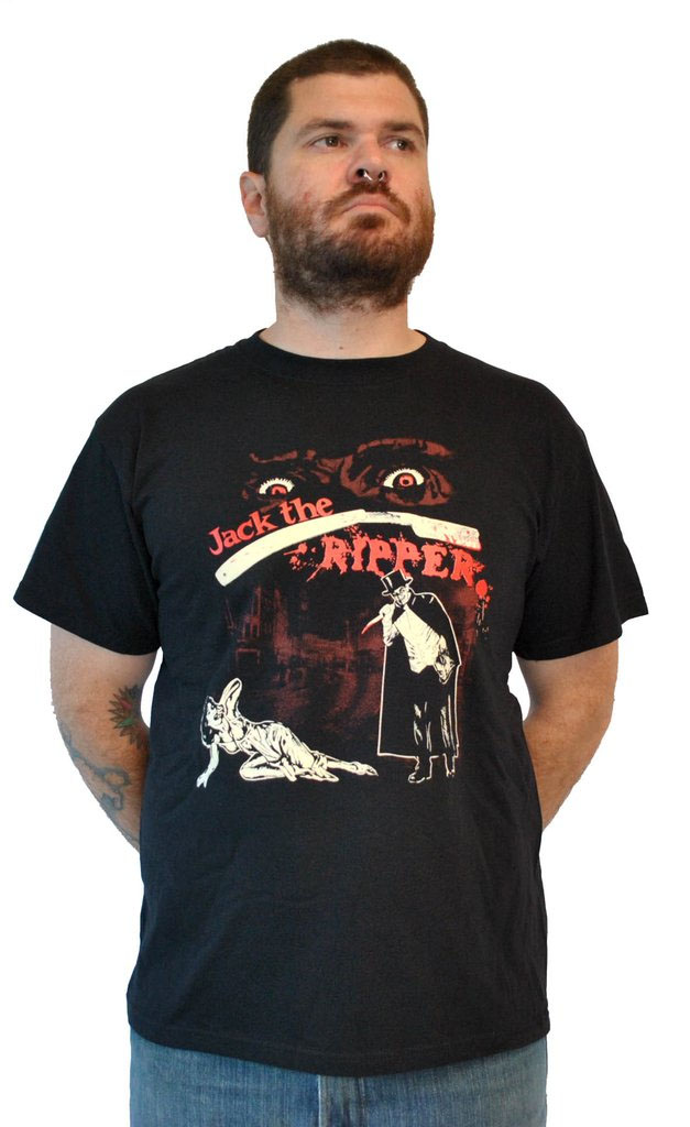 Jack The Ripper on a black shirt by Lucky Mule Brand (Sale price!)