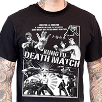 Lucky Mule Brand- Kung Fu Death Match on a black shirt (Sale price!)